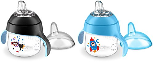 Philips Avent My Little Sippy Cup, Blue/Black (Pack of 2)