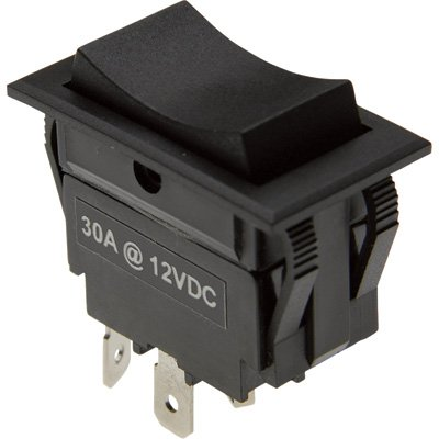 Rocker Reversing Switch - 30 Amp Momentary Contacts, Model# SWT-ROC-MOM-4W ()