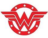 "Wonder Women Superhero DC Comics Inspired Vinyl Decal Sticker RED Cars Trucks Vans SUV Laptops Wall Art 5.5"" X 4"" CGS666"