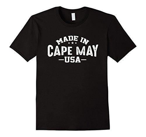 Mens Made In Cape May, New Jersey USA NJ T-Shirt Medium Black (Cape May Christmas)
