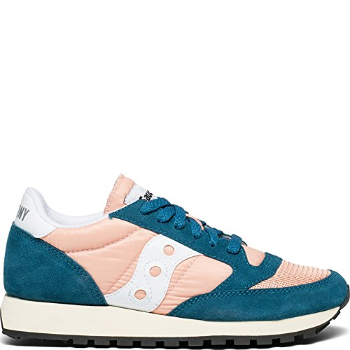 Baskets Saucony Original Peach Vintage Jazz 42 Teal Multicolore Femme AOFwTq