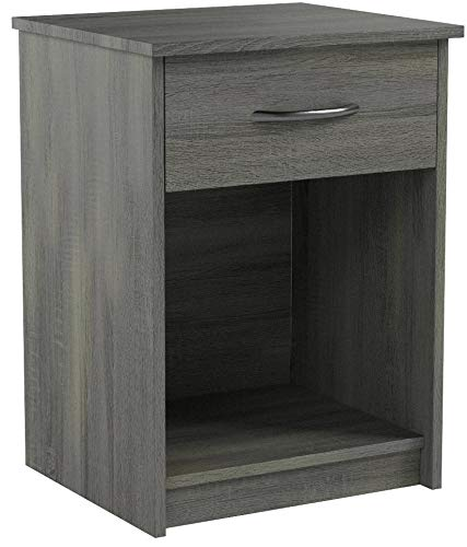 Nightstand End Table Modern MDF Bedroom Table Bedside Furniture with Drawer Multiple Colors (Rodeo Oak)