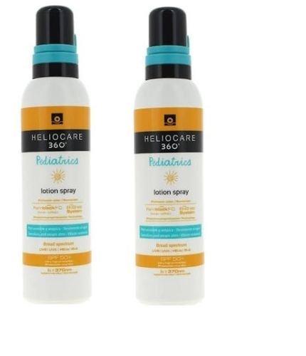 2x HELIOCARE 360 PEDIATRICS LOTION SPRAY SPF50+ 200ml SUNSCREEN TOTAL 400ml Skin Gift