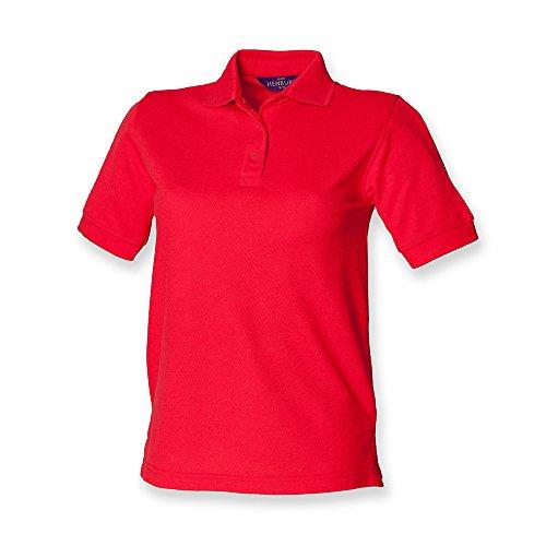 Henbury �?camiseta tipo polo para dama Rosso
