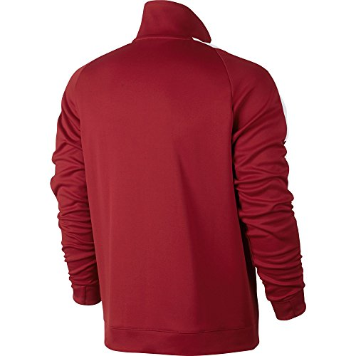 Nike M Nsw N98 Jkt Pk Tribute Chaqueta, Hombre Tough Red/Bianco/Bianco