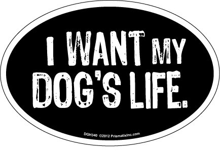 - Prismatix Decal Cat and Dog Magnets, I Want My Dog's Life, Black