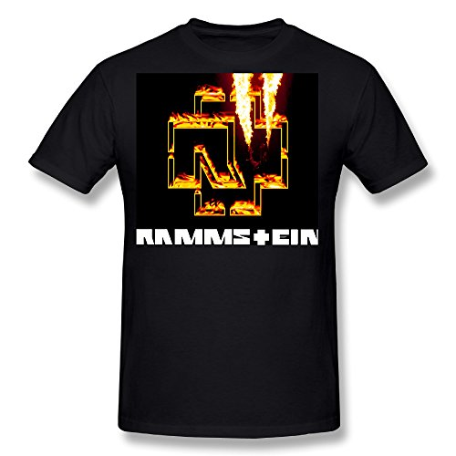 Flesiciate1 Men Rammstein Burning Image Creative Logo Desig Size XXL T-Shirt