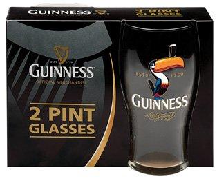 UPC 793842135886, Guinness Toucan Tulip Pint Glasses (2 Pack) - Official Licensed Merchandise