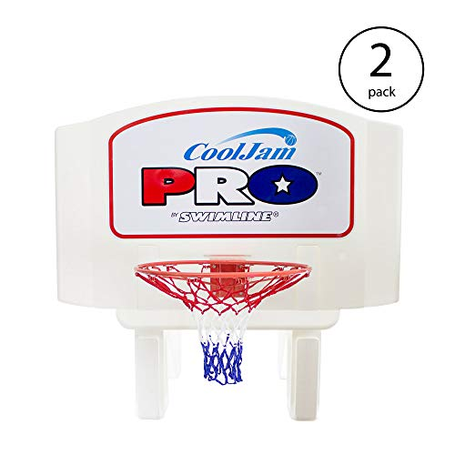Swimline Super Wide Cool Jam Pro Inground Swimming Pool Basketball Hoop (2 ()