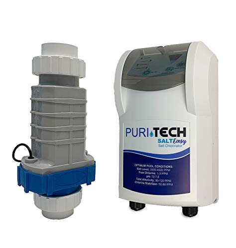 Puri Tech Salt Easy up to 25,000 Gallon Salt Generating Chlorinator Inground Complete Pool System Cell