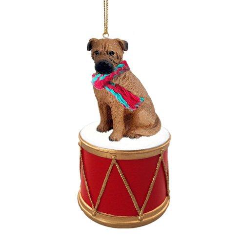 Little Drummer Bullmastiff Christmas Ornament - Hand Painted - Delightful