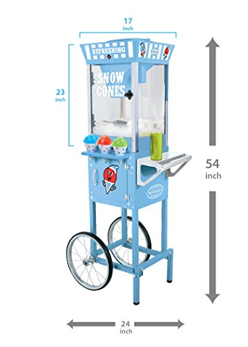 082677242204 - Nostalgia SCC200 53-Inch Tall Vintage Collection Snow Cone Cart carousel main 2