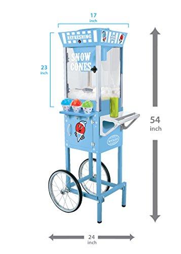 082677242204 - Nostalgia SCC200 53-Inch Snow Cone Cart carousel main 2