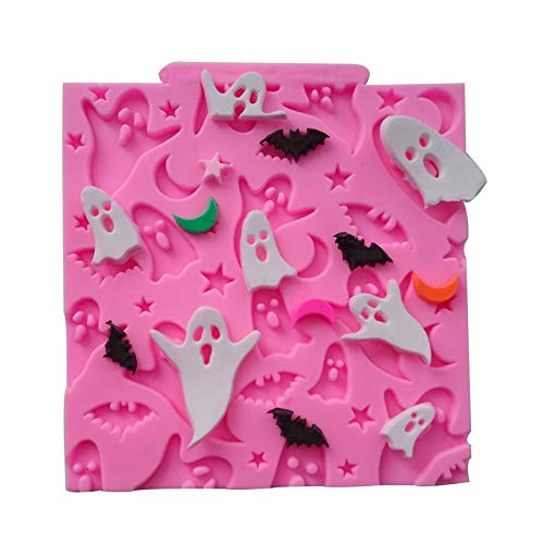 SP Pansy Halloween Ghosts Bats Moon star Silicone Mold Cupcake Fondant Cake Tools Kitchen baking Accessories Moldes De Silicone -