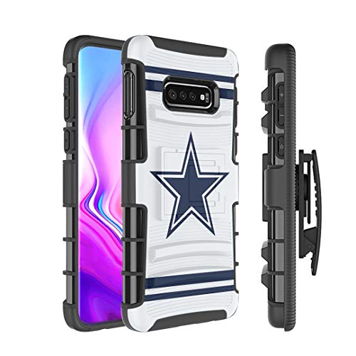 Moriko Case Compatible with Galaxy S10e [Armor Layer Drop Protection Shockproof Kickstand Holster Combo Black Case] for Samsung Galaxy S10e - (Cowboy)