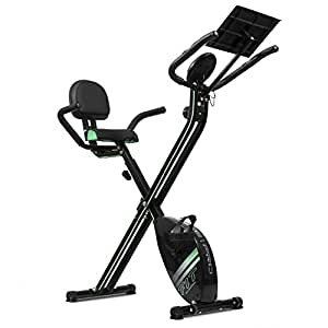 Cecotec  07016 XBike Pro - Bicicleta plegable magnética  (Pulsómetro, Pantalla LCD,  Resistencia variable)
