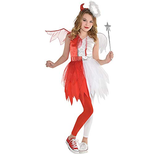 Devil and Angel Halloween Costume for Girls, Medium, with Included Accessories, by Amscan -