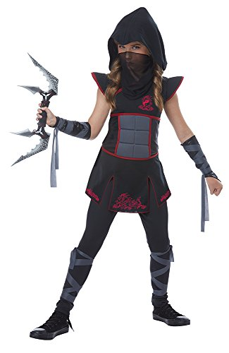 Fearless Black Ninja Girl Kids Costume
