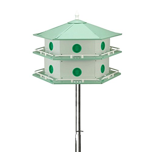 15' Telescoping Purple Martin House Pole Kit with 12-Room Aluminum House 12 Room Purple Martin House
