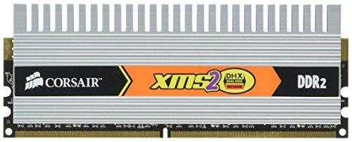 Corsair Memory XMS2 DHX 2GB PC-6400 DDR2 Memory Kit (Two 1GB DDR2-800 Memory Modules) by Corsair Memory