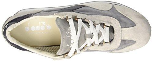 Diadora Unisex-erwachsene Equipe Stone Wash 12 Scarpa Da Tennis, Blu + Bianco Bianco (bianco / Fumo Dk)