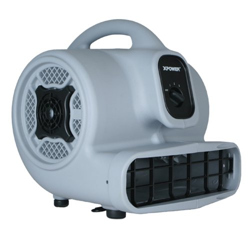 Supply Xpower - XPOWER P-400 1/4 HP 1600 CFM 3 Speed Multipurpose Air Mover, 3.0-Amp - Blue
