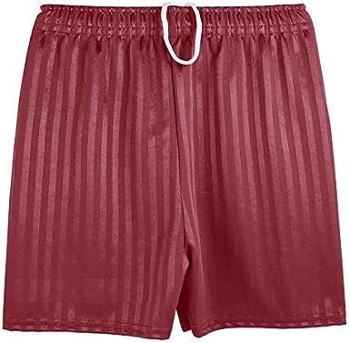 Bahob/® Mens Adult Boys Girls Unisex Shadow Stripe Gym Sports Football Games School PE Shorts Small to XXL