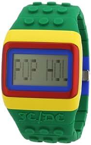 ODM POP HOURS JC01-17 - Reloj digital de cuarzo unisex, correa de silicona color verde (luz)