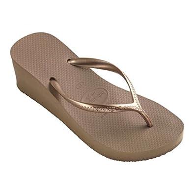 5754764e3 Havaianas Womens High Fashion Wedge Heel Sandals Flip Flops Smart Platform  Evening Heels UK 5 (Brazil 36) EUR 38 Rose Gold - High  Amazon.co.uk  Shoes    ...