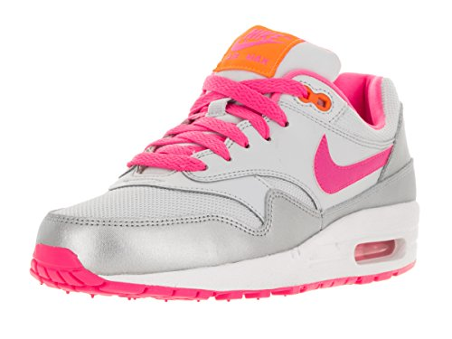 Nike Air Max 1 (GS), Basses Homme pure platinum-pink pow-bright citrus-white