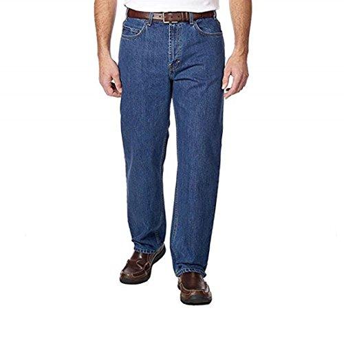 Kirkland Signature Men's New Relaxed Waist Denim Jean (Blue, 30W x 34L)