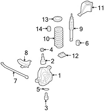 SEAT Ford 5C3Z-5793-CA SPRING