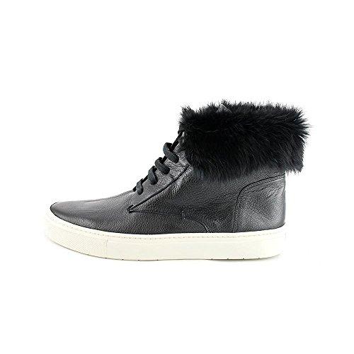 Vince Womens Nyack Fur High Top Sneakers Black/Off White ZIIg6