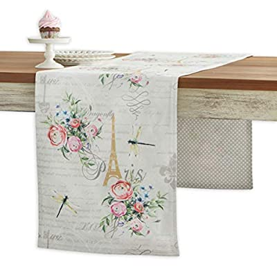 Maison d' Hermine Champ de Mars 100% Cotton Table Runner 14.5 Inch by 72 Inch - Designed in Europe. 100% Cotton and Machine washable. Package Includes : 1 Table Runner - table-runners, kitchen-dining-room-table-linens, kitchen-dining-room - 41%2BvAmXCAVL. SS400  -