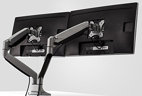 Mount-It! Dual Monitor Desk Mount Arm, Height Adjustable Full Motion Monitor Stand With Gas Spring Arms, Fits 24, 27, 29, 30, 32 Inch Computer Screens by Mount-It! (Image #4)