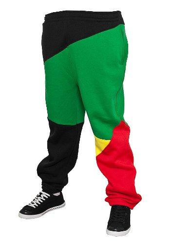 6be0de5e9de06c Pantaloni della tuta Urban Classics Zig Zag, Black/Rasta: Amazon.it:  Abbigliamento