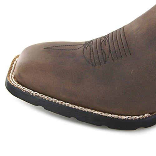 Brown FB Stivali Uomo BootsDdb0082 Peanut Dark Fashion western AxzOq