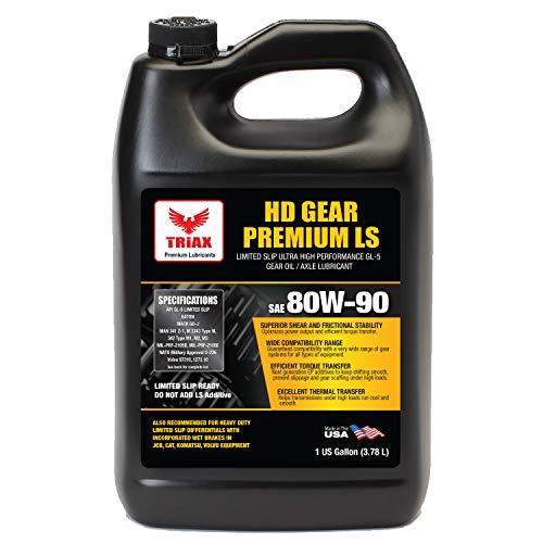 Triax HD Premium Gear 80W90 GL-5 Limited Slip Ready - Wide OEM Spec Range (1 Gallon)