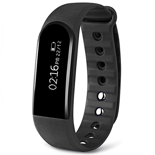Dularf Fitness Monitor Bluetooth 4.0 Heart Rate Tracker Wristband Waterproof Smart Bracelet Pedometer for Android and iOS Smartphone