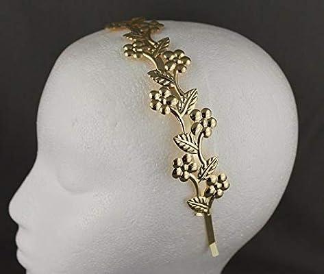 Silver shiny vine leaf crown Leaves headband hair band greek toga roman costume