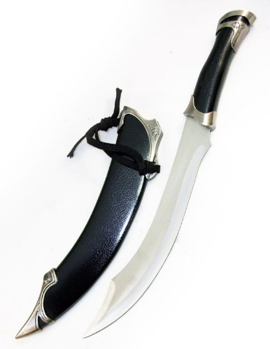 Amazoncom 17 Black Lord Of The Ring Elven Knife Of Strider