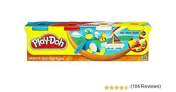 Play Doh - Pack de 4 Botes (Hasbro 22114E24): Amazon.es: Juguetes ...