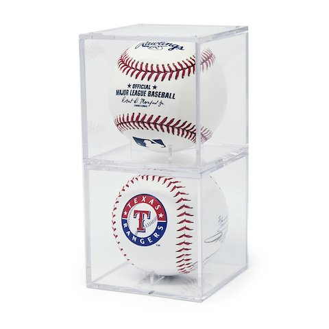 Baseball Display Cases Shop - THE ORIGINAL BALLQUBE UV Grandstand Baseball Display Case Square (2 Pack)