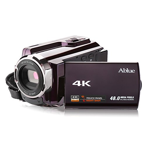 Camcorders, Ablue 4K Ultra-HD Portable 30FPS WIFI Digital Video Camera, IR Night Vision Camcorder 3.0' Touch Screen Video Recorder