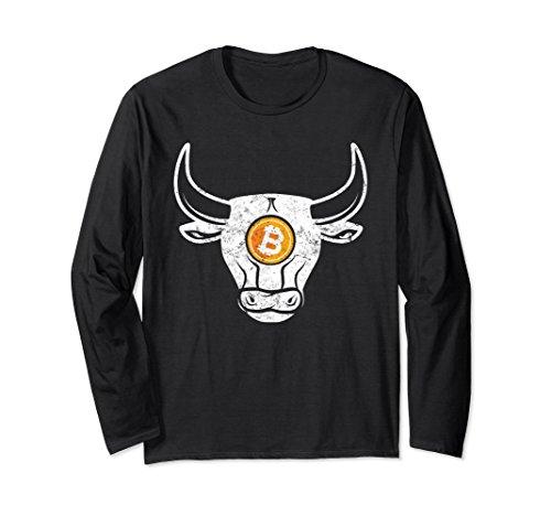 Black Market Vintage (Unisex Bitcoin Bull Market Vintage Crypto Apparel Long Sleeve Small Black)