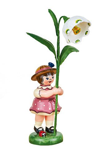 Small Figures & Ornaments Flower girl with Daffodils of march - 11cm / 4,3inch - Hubrig Volkskunst