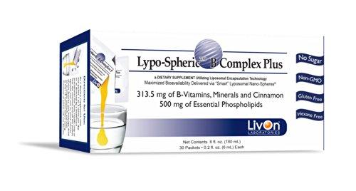 Lypo-Spheric B Complex Plus - 30 sachets | 313,5 Complexe mg B, minéraux et cannelle par paquet | Formule ultime AGE-blocage | encapsulé dans des liposomes pour une biodisponibilité maximale | Professionnellement formulé | blocs de formation de pointe de