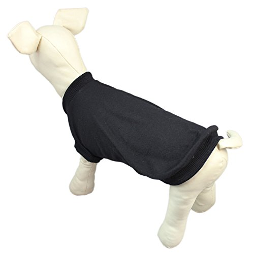 DennyBella Blank Pet Clothing Coat T-Shirt Dog Basic Apparel Sweatshirt, Black (M) (Dog Blank T-shirts)