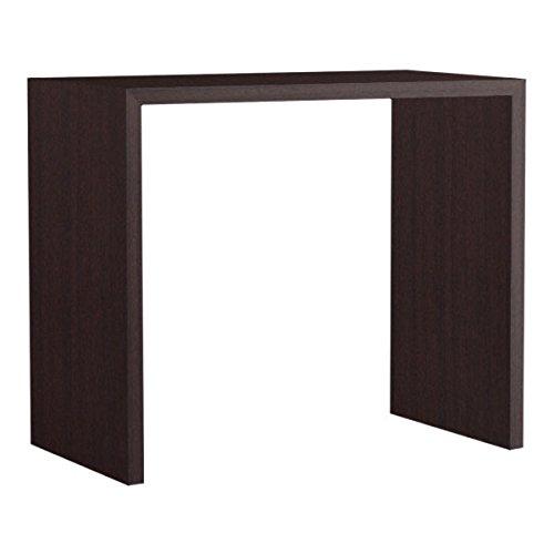 arne カウンターテーブル バーテーブル セミオーダー 日本製 幅105cm 奥行60cm 高さ90cm コの字 テーブル デスク 勉強机 会議用テーブル Zero-X 10560HH ブラウン B079L11Y7H 幅105×奥行60,ブラウン