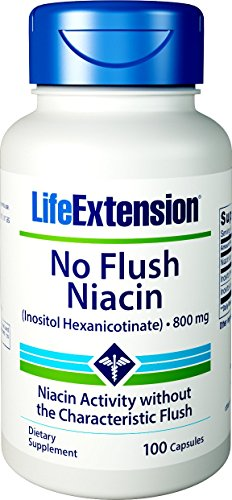 Life Extension No Flush Niacin (Inositol Hexanicotinate) 800 Mg , 100 Capsules